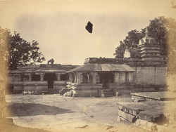 General view of the Panchalinga Temple, Manoli